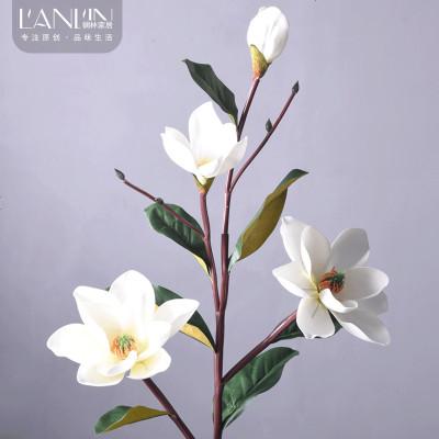 假花高仿真花花卉玉兰树花客厅茶几装饰花束干花摆设绢花摆件花艺