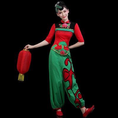 秧歌服演出服2019燈籠舞腰鼓隊服裝古典舞蹈套裝成人女廣場舞 圖片色
