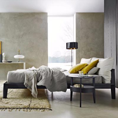 檀星星北歐白蠟木實木床婚床雙人床現代簡約主臥室布藝床輕奢真皮軟包床