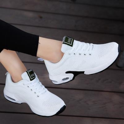 因樂思(YINLESI)白色廣場跳舞鞋春夏網面透氣舞蹈鞋女軟底健身運動鞋新款鬼步舞鞋