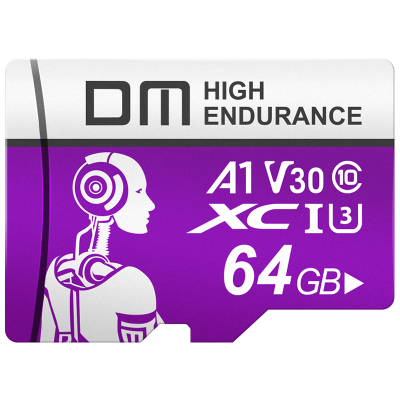 DM 64GB TF(MicroSD)存儲卡 C10 機械師系列監控卡 行車記錄儀攝像頭專用高速內存卡