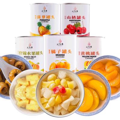 【5罐整箱組合】匯爾康 新鮮水果糖水罐頭整箱 黃桃+橘子+山楂+菠蘿+什錦 各1罐
