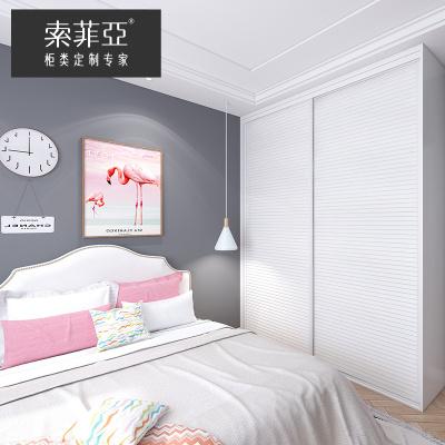 索菲亞衣柜定制次臥臥室家具簡約現代風格成年整體衣柜木質移門衣柜全屋定制 元/平方米