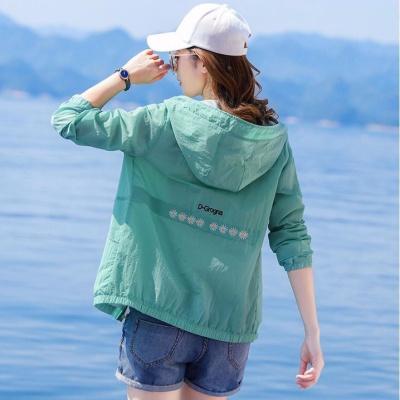 梵卡麥羅小雛菊防曬衣女防紫外線長袖2020夏季中年媽媽薄外套洋氣防曬服女