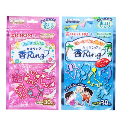 金鳥KINCHO 粉色香味驅蚊手環 花草香 + 藍色香味驅蚊手環 水果香味 每袋30個入 共2袋