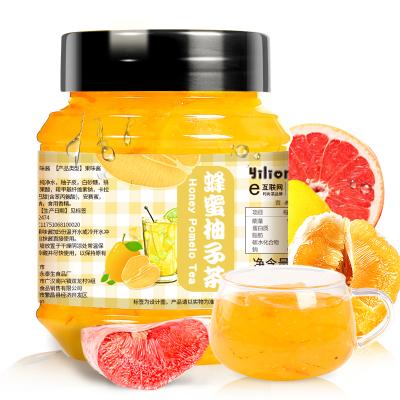 【買即送勺】蒲草茶坊蜂蜜柚子茶含糖罐裝柚子味果味沖飲冷藏柚子味500g