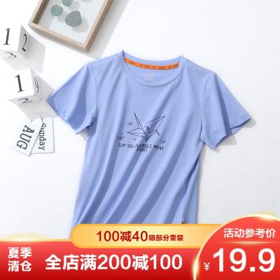 叮當貓童裝 男童短袖圓領上衣百搭時尚潮流帥氣男孩休閑T恤衫