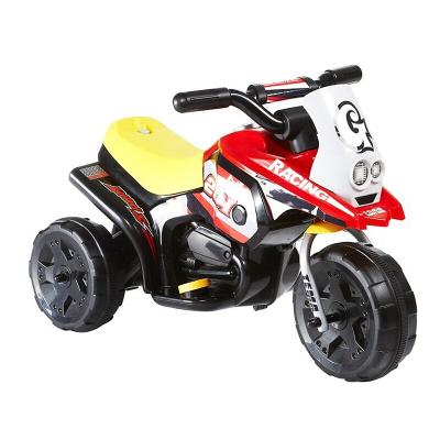 hd小龍哈彼 兒童電動車摩托車三輪車 可坐人充電小孩玩具童車 紅色LW336-D-L139