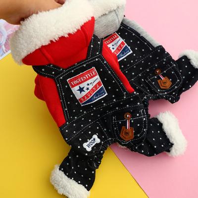 憨憨寵狗狗衣服泰迪貴賓小型犬衣服寵物衣服寵物四腳衣秋冬保暖衣