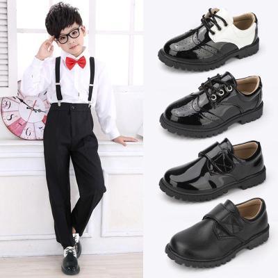 儿童皮鞋男软皮学生皮鞋小学生皮鞋男童黑皮鞋校园礼仪男童演出鞋