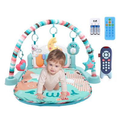 貝恩施 嬰兒玩具0-1歲 兒童健身架 新生兒玩具寶寶益智早教多功能音樂玩具男女孩禮物 【充電款】雙遙控器健身架