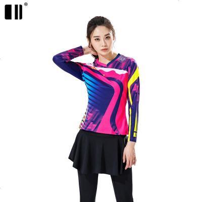 【速干型】新款秋冬羽毛球服女长袖T恤网球服上衣乒乓球服