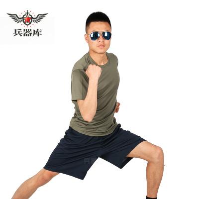 兵器庫 07體能訓練服軍訓服短袖短褲跑步短袖套裝軍迷服飾陸灰色 陸灰色 軍綠色