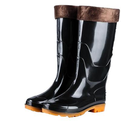 四季男士高筒雨靴防水防滑加棉水鞋男工作劳保胶鞋耐磨耐酸碱夏季 威珺