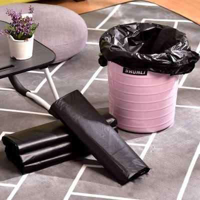 50只装黑色背心式手提加厚垃圾袋中大号厨房浴室酒店垃圾收纳袋