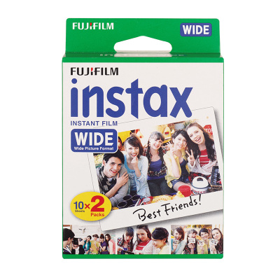 FUJIFILM/富士拍立得INSTAX Wide210/300宽幅白边相纸 两包装20张 一次成像迷你相纸