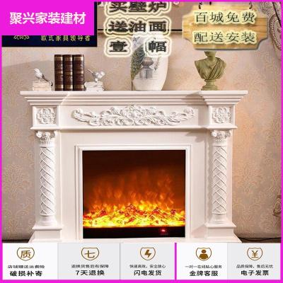 蘇寧放心購歐式壁爐電視柜1.8米/1.5米美式取暖電壁爐芯 裝飾柜仿真火壁爐架簡約新款