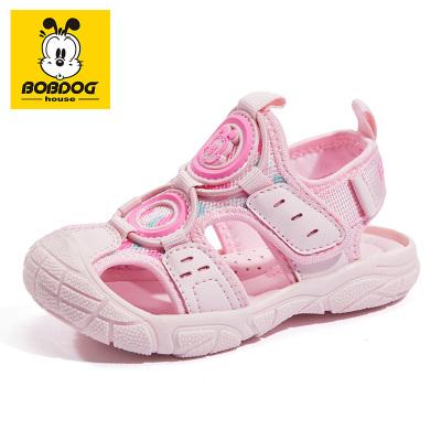 BOBDOG HOUSE巴布豆夏季兒童涼鞋包頭機能男童女童軟底寶寶鞋子B8663