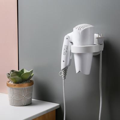 夢妮 衛生間吹風機架免打孔電吹風浴室廁所壁掛收納架洗手間收納架子