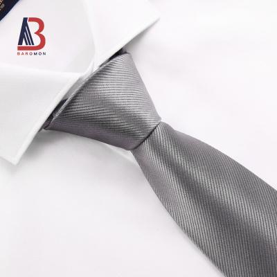 培罗蒙/baromon正装衬衫领带男士上班领带银色领带商务休闲领带礼服领带男新品培羅蒙ELD7122