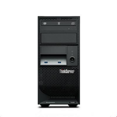 联想(ThinkServer) TS250 塔式服务器 小型 静音 用友 金蝶 ERP 服务器主机 奔腾双核 G4560 3.5GHz 32G内存 | 2块1T硬盘