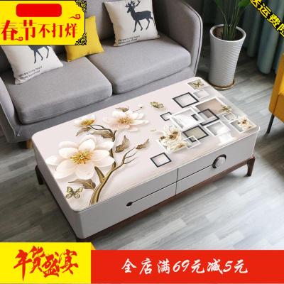 3D茶几垫桌垫防水防烫厚PVC塑料软玻璃家用客厅免洗网红茶几桌布