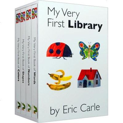 英文原版繪本 我的第一個圖書館4冊紙板書套裝 My Very First Library 艾瑞卡爾Eric Carl