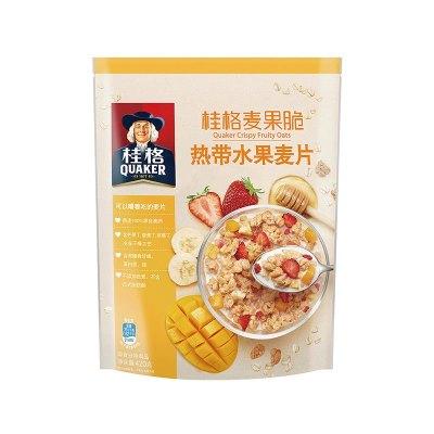 桂格麦果脆热带水果麦片420g