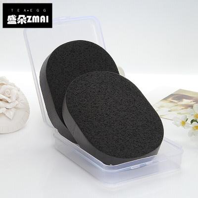 2019新款新款創意氣墊bb洗臉撲潔面撲洗臉海綿化妝粉撲加厚細膩洗面撲棉帶盒衛生清潔用品-qr02