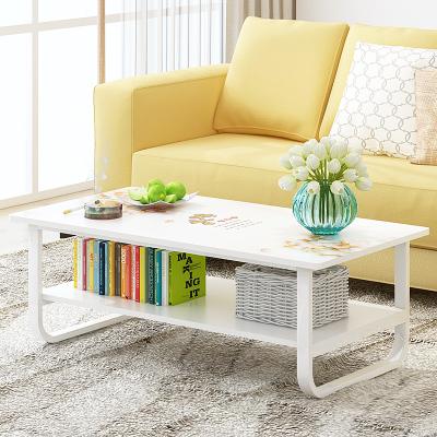 茶几简约现代 阳台小桌子小户型客厅人造板简易暖兔小茶机桌长方形创意矮桌