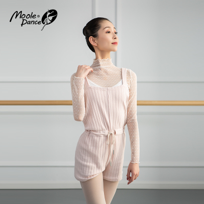 新款小茉莉秋冬針織舞蹈毛衣保暖連體褲上衣芭蕾舞練功服外套