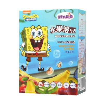 beakid 美国海绵宝宝纯水果溶豆水果脆片猕猴桃梨苹果香蕉味24g-盒装 零食点心