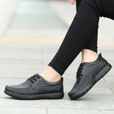 克卜勒kebule 媽媽鞋優雅單鞋中老年女鞋真皮軟底舒適中年老人平底皮鞋軟底