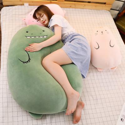 悠悠兔网红恐龙玩偶ins抖音同款抱枕毛绒玩具软萌小猪长条睡觉抱枕靠女生创意