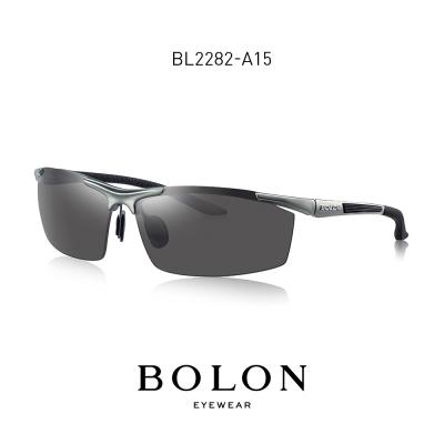 BOLON暴龙偏光太阳镜男士方形半框潮流墨镜开车个性眼镜BL2282
