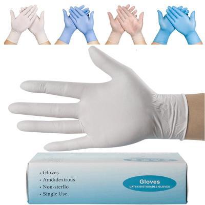 一次性丁晴手套女乳膠牙科橡膠餐飲膠皮塑膠防油防水手術勞保加厚威珺