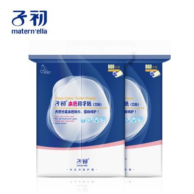 子初 本色月子紙(刀紙)800g/提x2提 母嬰孕產婦衛生紙 大號加長 產褥期產房專用刀紙 產后用品