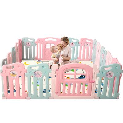 【星娃同款】澳樂月亮游戲圍欄寶寶爬行墊學步護欄柵欄 寶寶室內游樂場月亮圍欄14+2