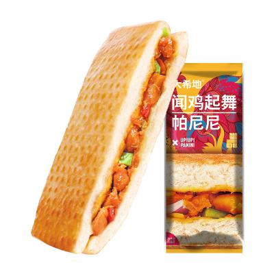 【2.1号发货】【满299-160】大希地 闻鸡起舞番茄鸡肉味帕尼尼 100g*3个 口感香脆 早餐 零食 西式汉堡