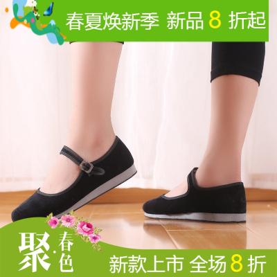 民族舞蹈鞋胶州秧歌鞋东北秧歌鞋舞蹈练功鞋女成人考试考级绒布鞋