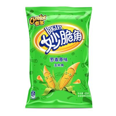 奇多(Cheetos) 妙脆角 葱香原味65克/袋装 膨化食品