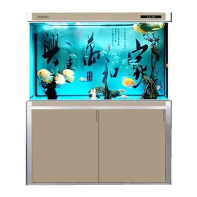 森森大型鱼缸水族箱 免换水客厅玻璃中型生态家用下过滤底滤鱼缸