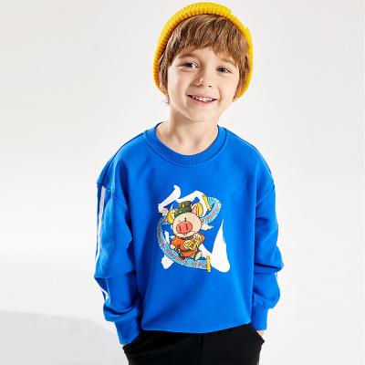 小豬班納兒童衛衣純棉2020春季新款男童女童長袖T恤條紋生肖上衣