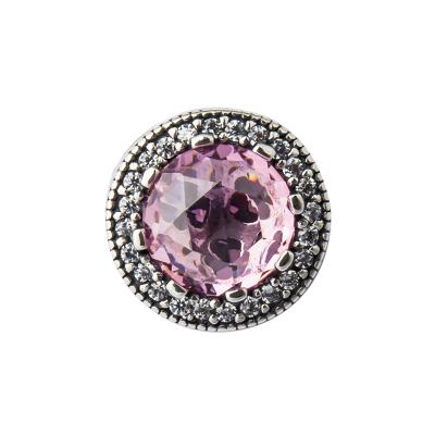 PANDORA潘多拉 深粉红色闪耀的心 925银串饰-791725NBP