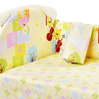 象宝宝床围婴儿床床围棉宝宝床上用品婴儿床围套件防撞可拆洗