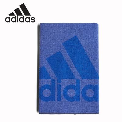 阿迪達斯Adidas運動毛巾 男女健身房運動吸汗羽毛球籃球足球跑步擦汗巾 藍色 黑色