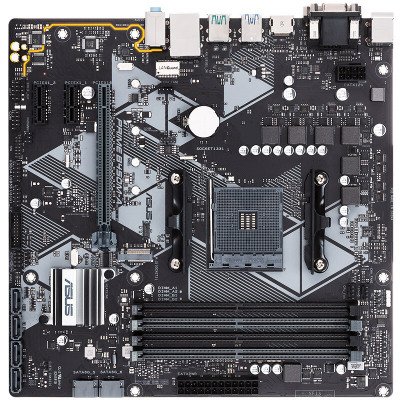 華碩(ASUS)PRIME B450M-A AM4接口 M-ATX臺式機電腦主板 支持R5 3500X、R5 2600X等處理器