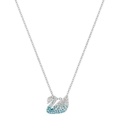 【直營】SWAROVSKI施華洛世奇Iconic Swan小號天鵝女士人造水晶項鏈送戀人