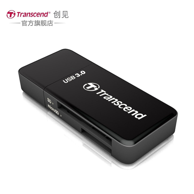 创见(Transcend) USB3.0 TS-RDF5K高速多功能读卡器 TF/SD卡多合一读卡器 黑色