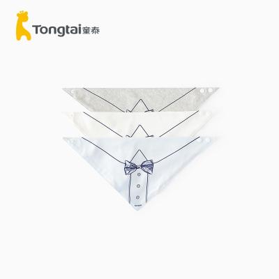 童泰2020年四季新款嬰兒用品嬰兒口水巾男女寶寶三角巾三塊裝